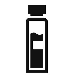 insuline bottle icon simple style vector image