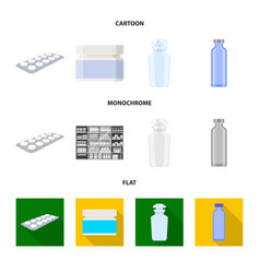 isolated object of retail and healthcare icon set vector image