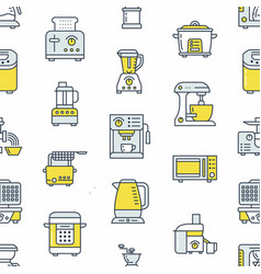 kitchen small appliances equipment seamless vector image