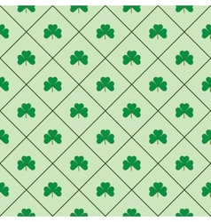 Leaf in square seamless pattern vector image