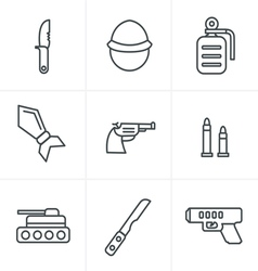 Line Icons Style military icons vector