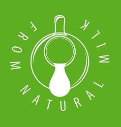 logo drop of milk from a jug vector image