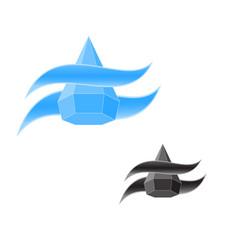 logo water drop vector image