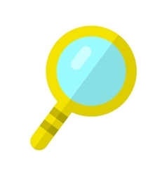 Magnifier in Flat Style Design vector