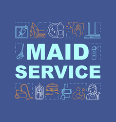 Maid service word concepts banner vector