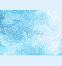 marbling blue white marble texture paint splash vector image
