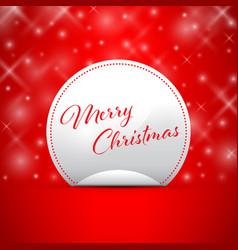 merry christmas snowflake background peeling stick vector image