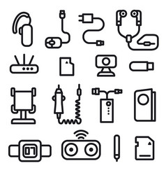 Mobile phone concept icons vector