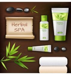 Natural Spa Cosmetics vector