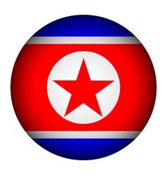 North Korea flag button vector