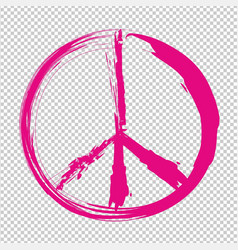 pacifism pink symbol vector image