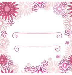 Pink flower background vector image
