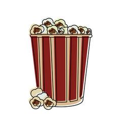popcorn snack food vector image