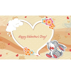 rabbit with frame vector image
