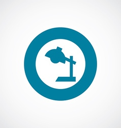 Reading-lamp icon bold blue circle border vector