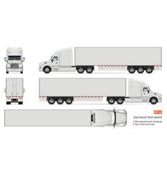 Realistic white truck vector