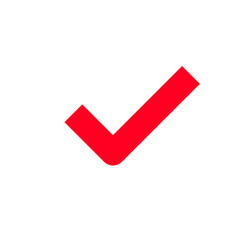 red tick checkmark icon vector image