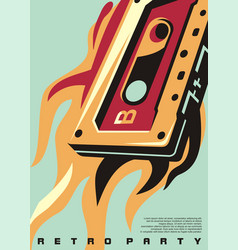 retro party artistic poster artwork vector image