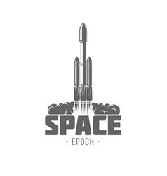 Rocket falcon heavy vector