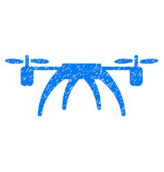 rotorcraft grunge icon vector image vector image