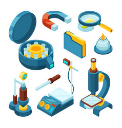 Science chemical isometric pharmaceutical vector