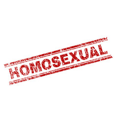 Scratched textured homosexual stamp seal vector
