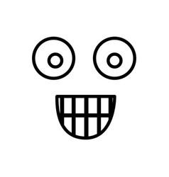 Sketch silhouette emoticon surprised expression vector