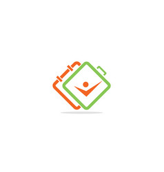 Square connect active people abstract logo vector