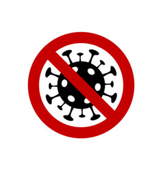 stop coronavirus icon caution sign vector image