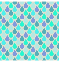 Teal and purple water drops seamless pattern vector