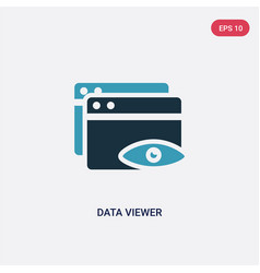 Two color data viewer icon from user interface vector