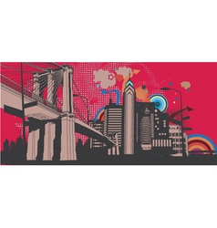 Urban abstract background vector