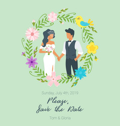 wedding day invitation vector image