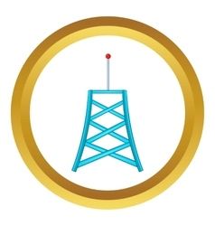 Wireless connection tower icon vector