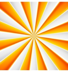 Yellow and white abstract rays circle vector