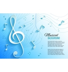 yellow background with music notes and key vector image