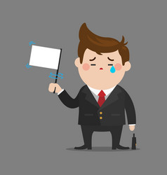 businessman give up vector image