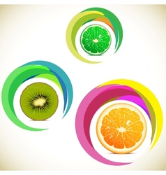 fruits icons vector image vector image