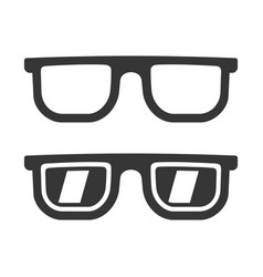 glasses icons set vector image