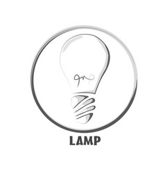 Icon basic button lamp two tone vector