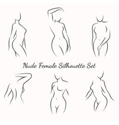 Nude female silhouette vector image