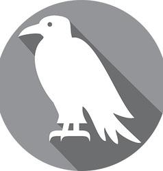 Raven Bird Icon vector image vector image