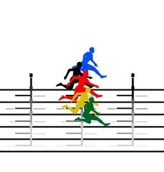 Athletics Running hurdles-1 vector image