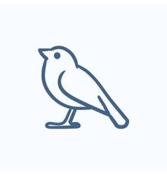 Bird sketch icon vector image vector image