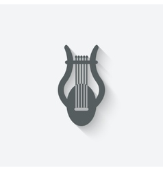 lyre music design element vector image vector image