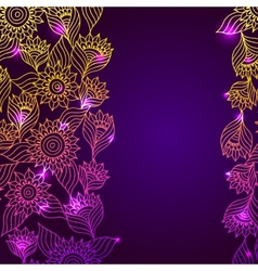 Flaral elegant lace ornament template frame vector image vector image