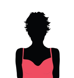 girl beauty color silhouette vector image vector image