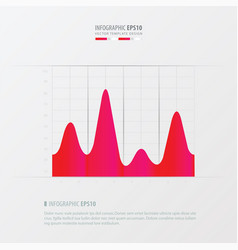 graph and infographic design pink color vector image vector image