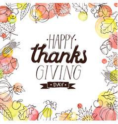 happy thanks giving vector image vector image
