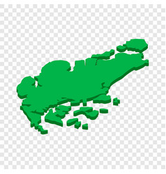 map of singapore isometric icon vector image vector image